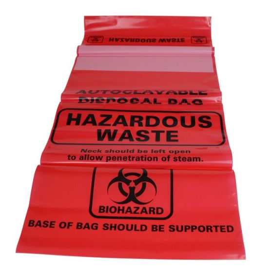 Small Biohazard Bags, Autoclavable, PN:120045