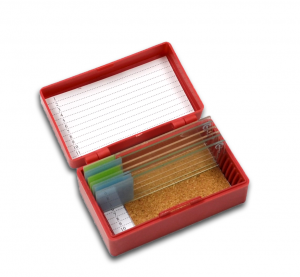 Storage Boxes For 12 Microscope Slides PN:120018