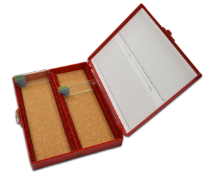 Storage Boxes For 100 Microscope Slides PN:120016